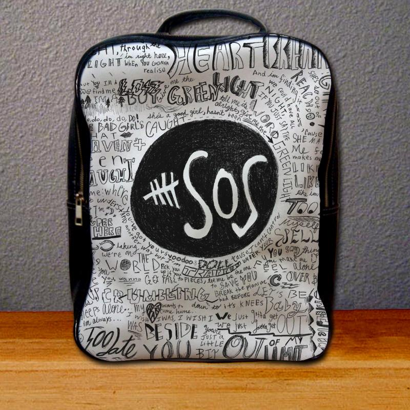 5 Seconds of Summer Collage Lyric Backpack for Student