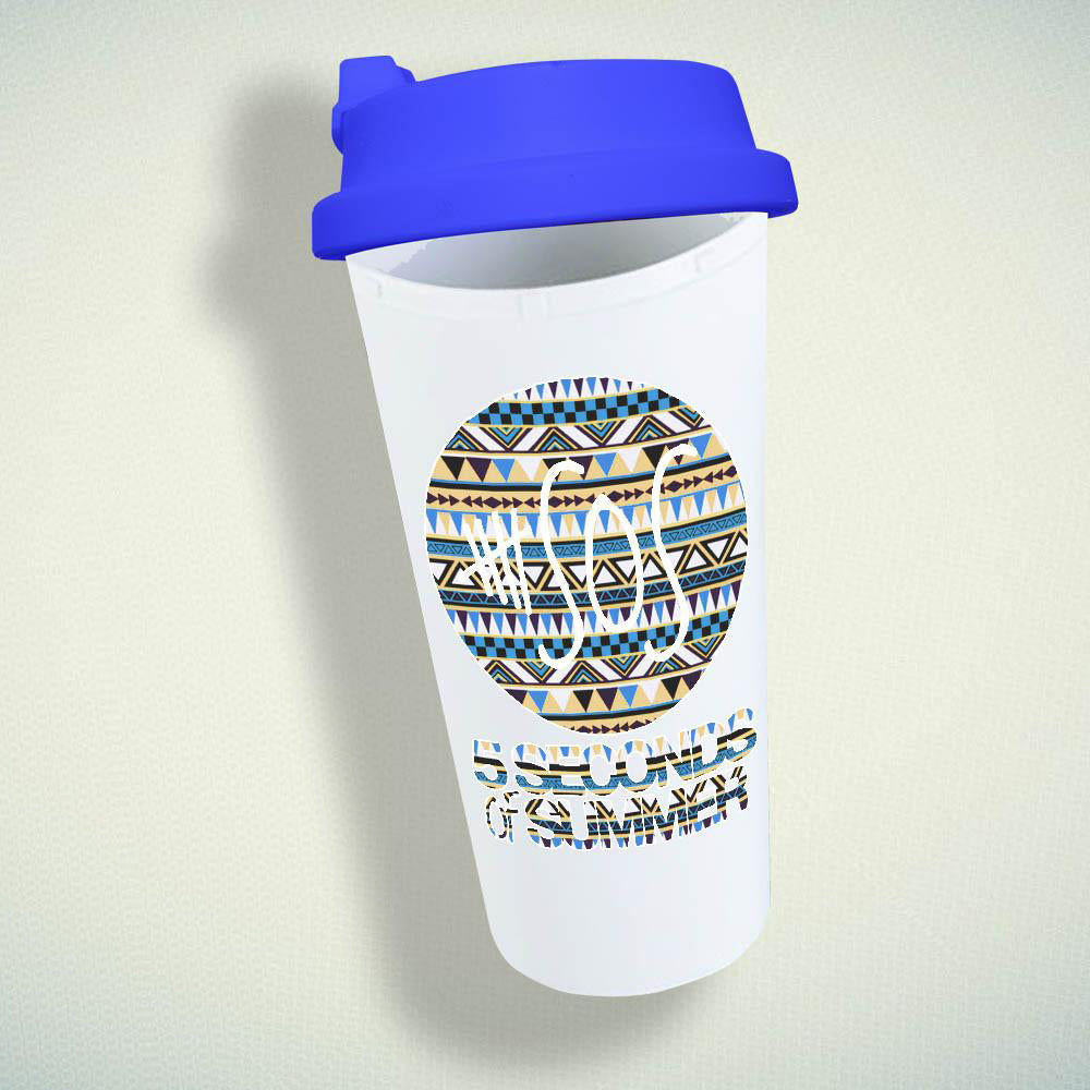 5 Seconds Of Summer On Classic Aztec Double Wall Plastic Mug