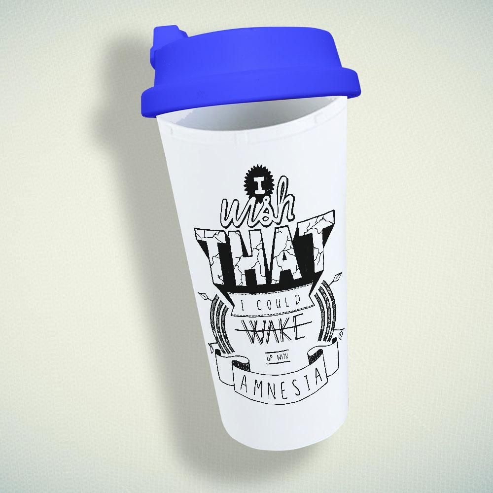 5 Seconds of Summer Amnesia Double Wall Plastic Mug