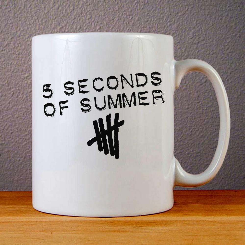 5 Seconds of Summer Band Logo Ceramic Coffee Mugs