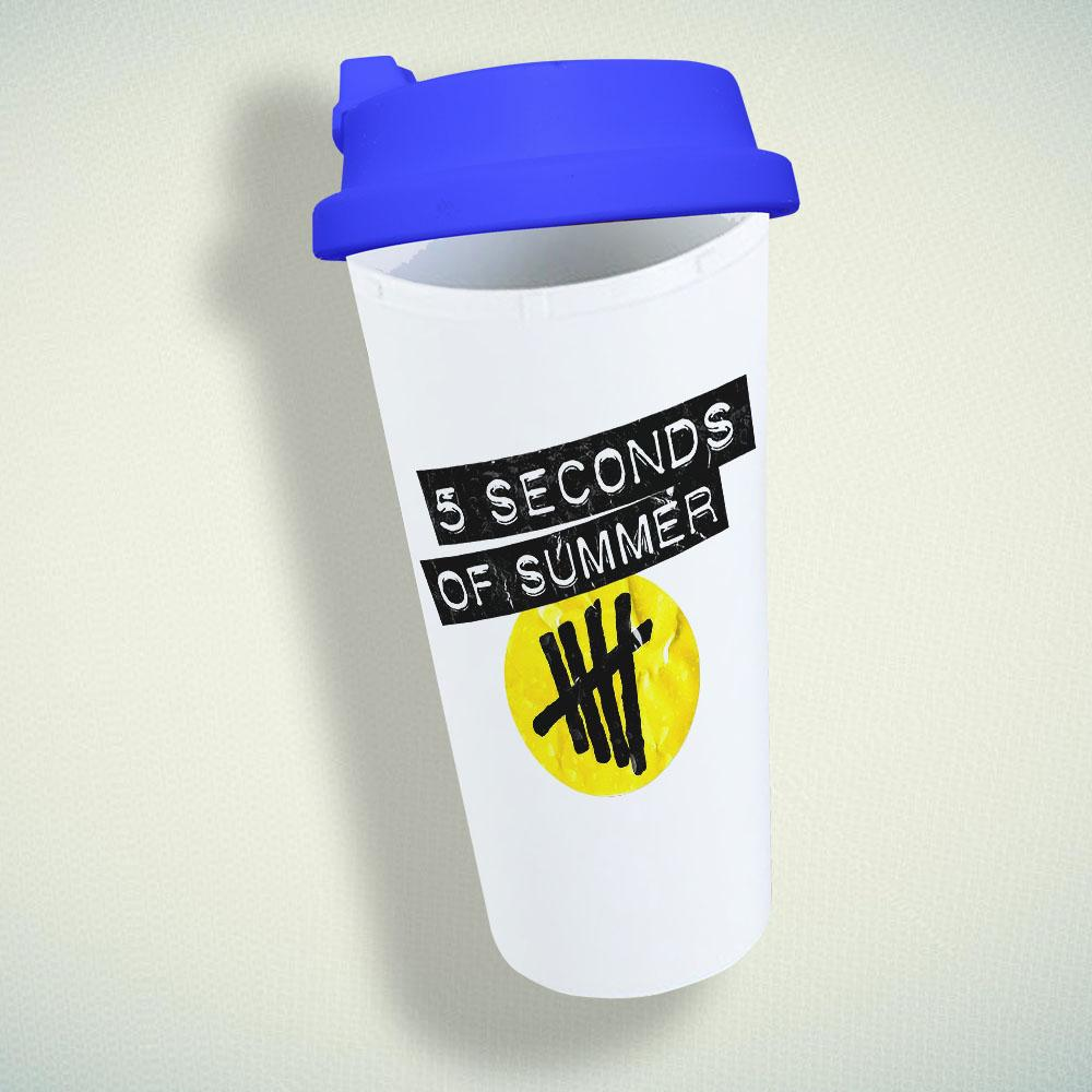 5 Seconds of Summer Logo Double Wall Plastic Mug