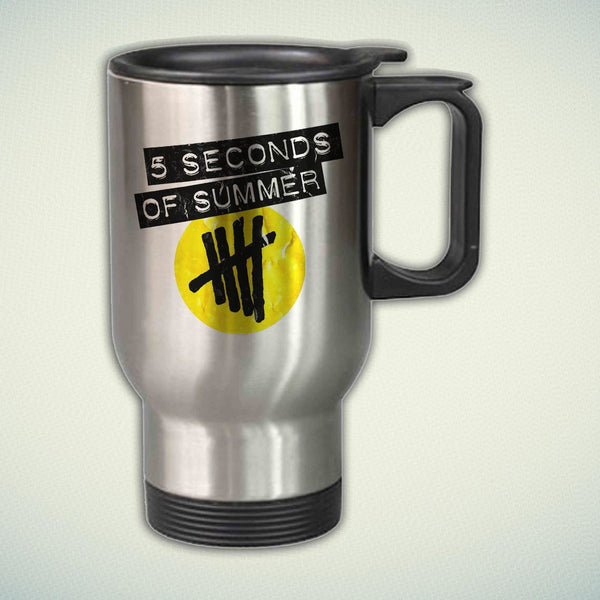 5 Seconds of Summer Band Logo 14oz Stainless Steel Travel Mug