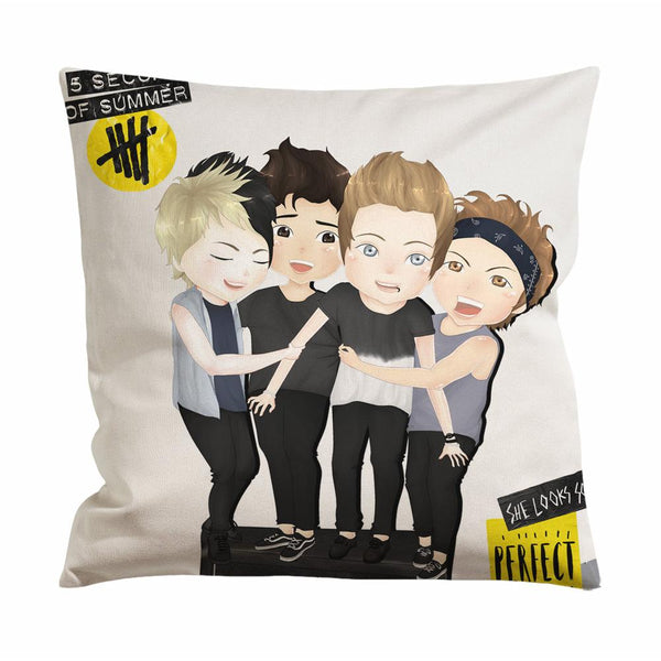 5 Seconds of Summer Chibi Cushion Case / Pillow Case