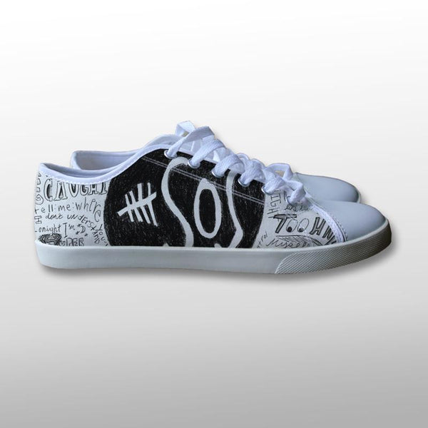 5 Seconds of Summer Collage Lyric Canvas Shoes