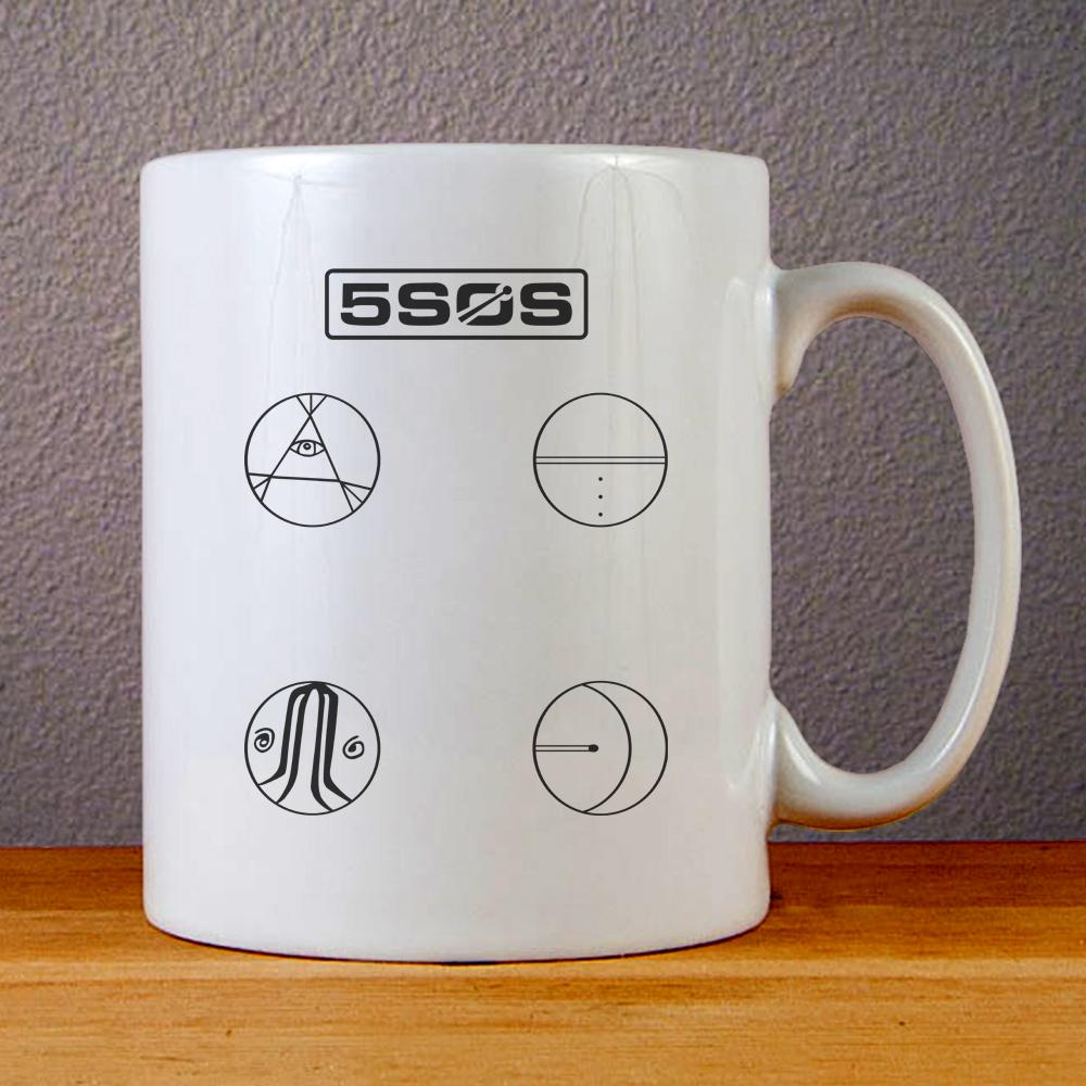 5 Seconds of Summer Easier Logo Ceramic Coffee Mugs