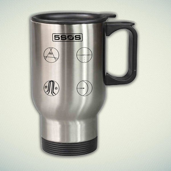 5 Seconds of Summer Easier Logo 14oz Stainless Steel Travel Mug