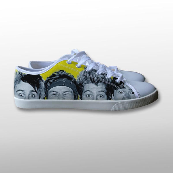 5 Seconds of Summer Head Canvas Shoes