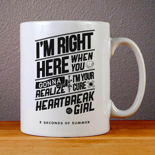 5 Seconds of Summer Heart Break Girl Ceramic Coffee Mugs