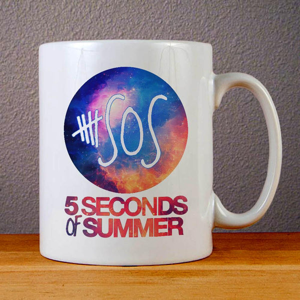 5 Seconds of Summer Logo on Galaxy Ceramic Coffee Mugs