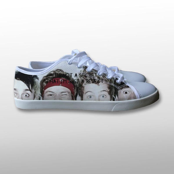 5 Seconds of Summer Quote Canvas Shoes
