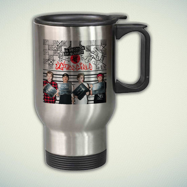 5 Seconds of Summer 14oz Stainless Steel Travel Mug