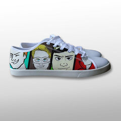 5 Seconds of Summer Superhero Canvas Shoes