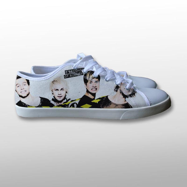 5 Seconds of Summer Tape Poster Canvas Shoes