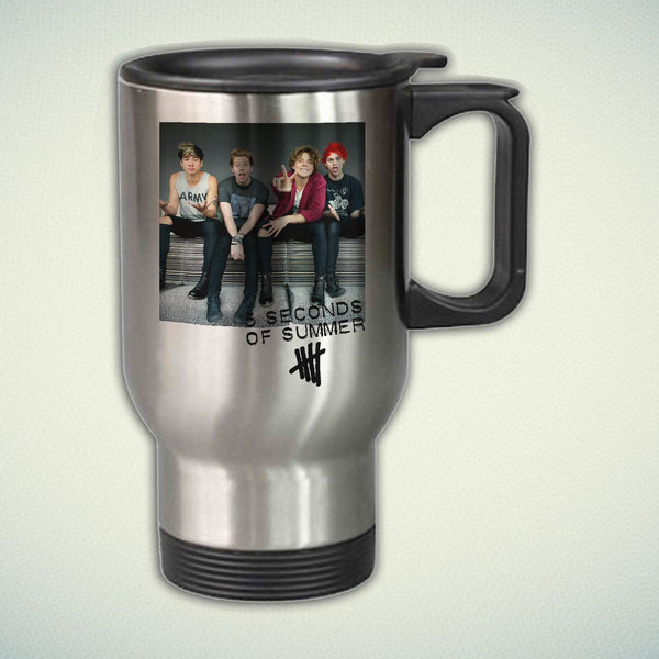 5 Seconds of Summer Tour 2017 14oz Stainless Steel Travel Mug