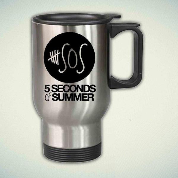 5SOS, 5 Seconds Of Summer  14oz Stainless Steel Travel Mug