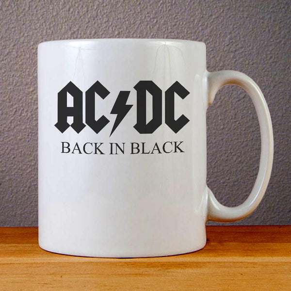 AC DC Back in Black Ceramic Coffee Mugs