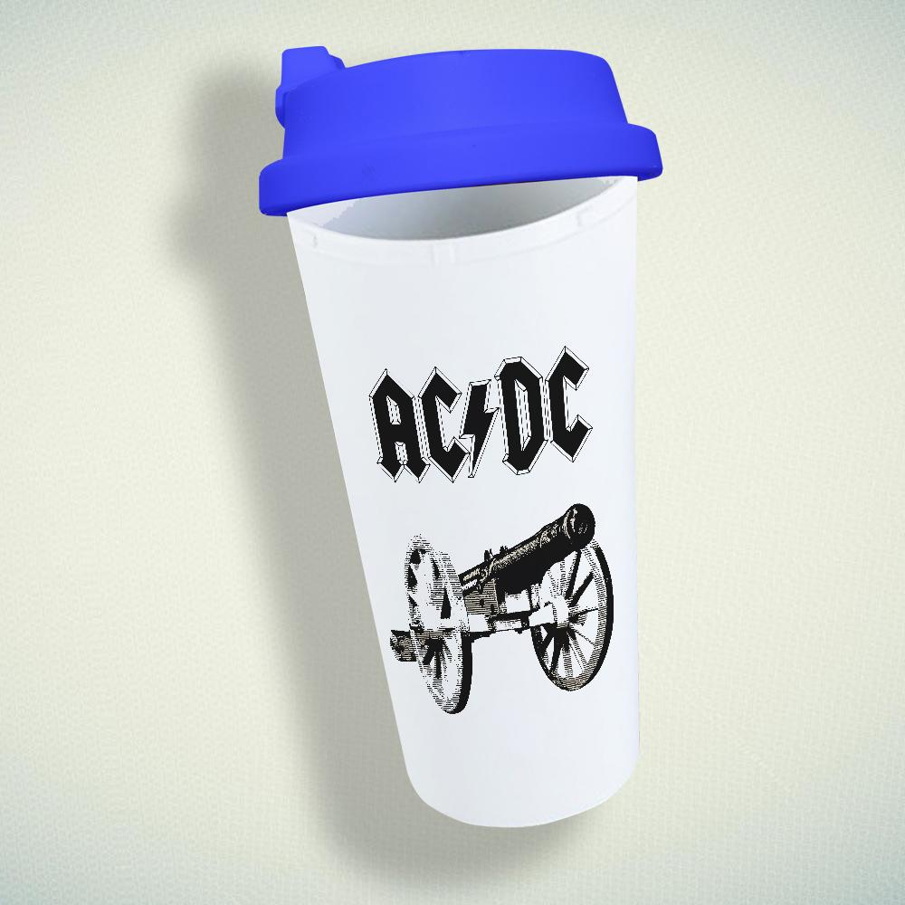 AC DC Band Double Wall Plastic Mug