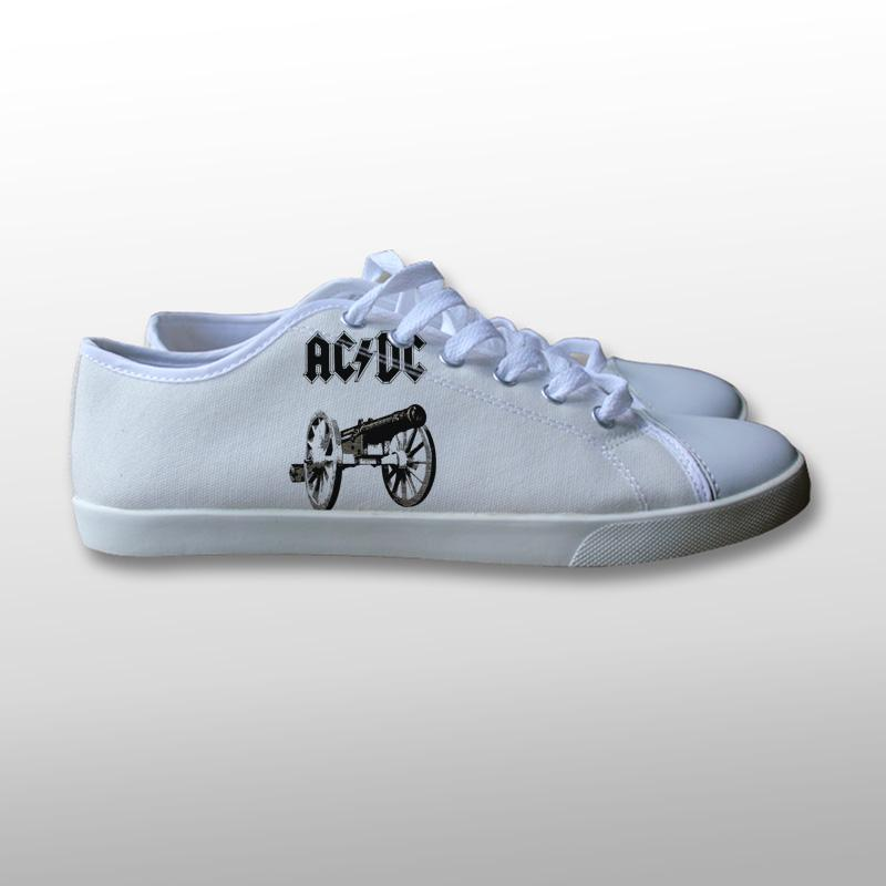 AC DC Logo Canvas Shoes
