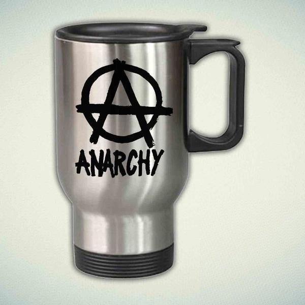ANARCHY SIGN star 14oz Stainless Steel Travel Mug