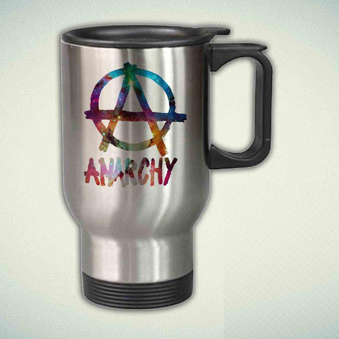 ANARCHY SIGN star on Galaxy 14oz Stainless Steel Travel Mug