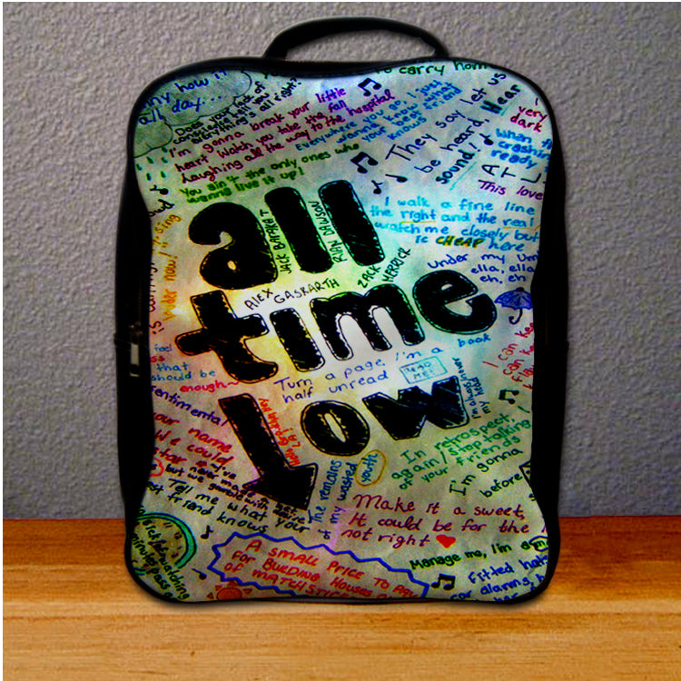 ATL All Time Low Quotes Backpack for Student – giftmug