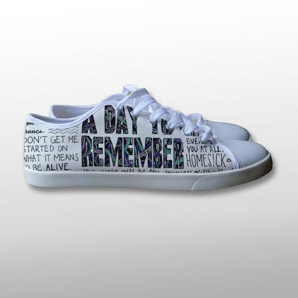A Day To Remember Quotes Canvas Shoes