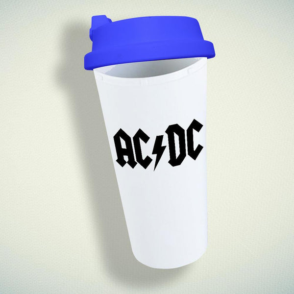 AC DC Band Logo Double Wall Plastic Mug