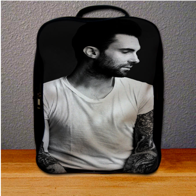 Adam Levine Black White grande Backpack for Student
