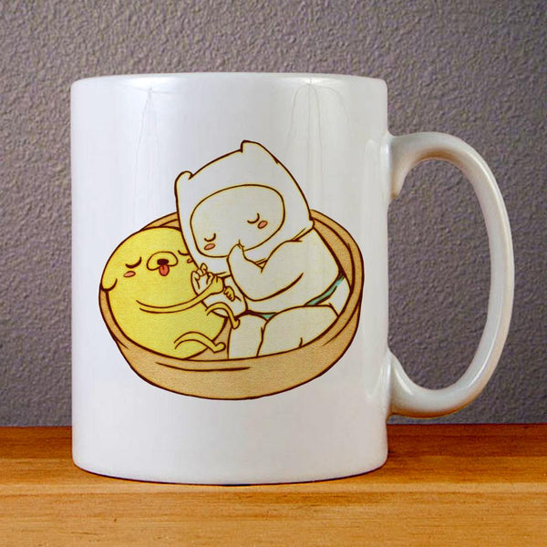 Adventure Time Baby Jake and Finn Ceramic Coffee Mugs