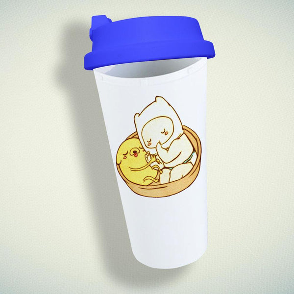 Adventure Time Baby Jake and Finn Double Wall Plastic Mug