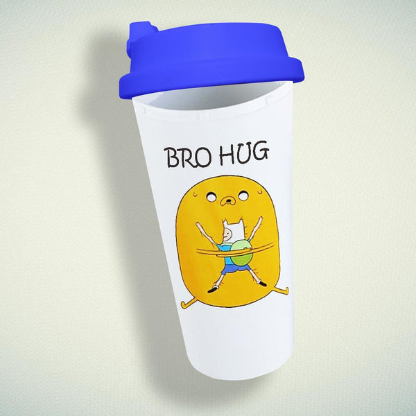 Adventure Time Bro Hug Double Wall Plastic Mug