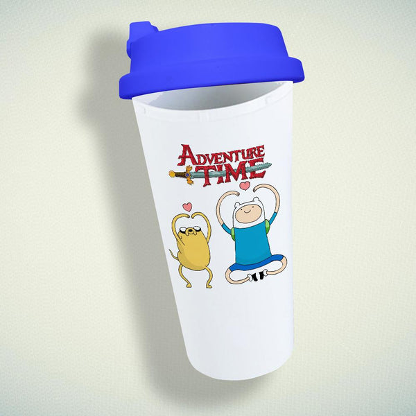 Adventure Time Jake And Finn Double Wall Plastic Mug