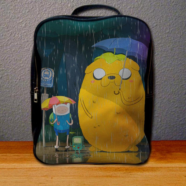 Adventure Time Rain Backpack for Student