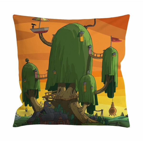 Adventure Time Treehouse Cushion Case / Pillow Case