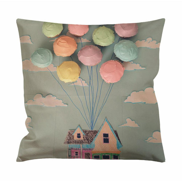 Adventure is Out There Cupcake Art Cushion Case / Pillow Case