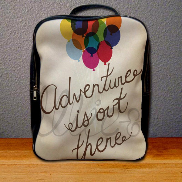 Adventure is Out There Up Quote Backpack for Student