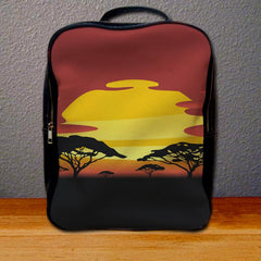 African Sunset Backpack for Student