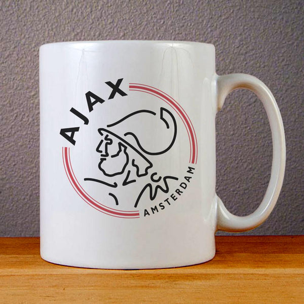 Ajax Amsterdam Logo Ceramic Coffee Mugs
