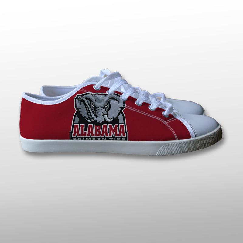 Alabama Crimson Tide NCAA Logo Canvas Shoes