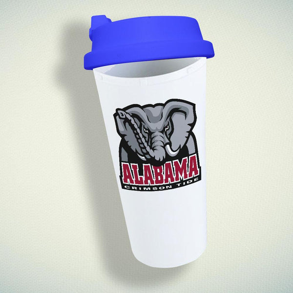 Alabama Crimson Tide NCAA Logo Double Wall Plastic Mug