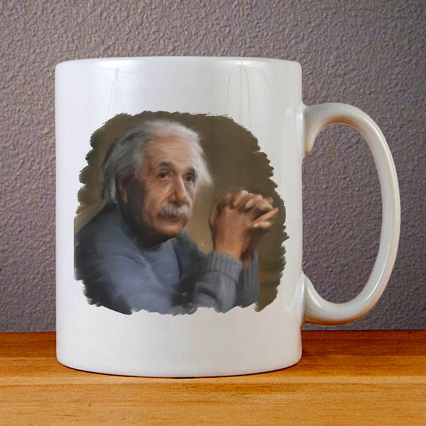 Albert Einstein Painting Ceramic Coffee Mugs