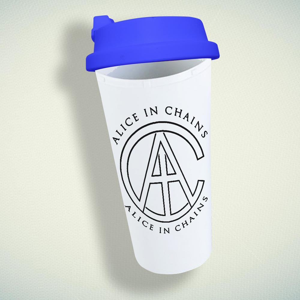 Alice In Chains Aic Logo Double Wall Plastic Mug