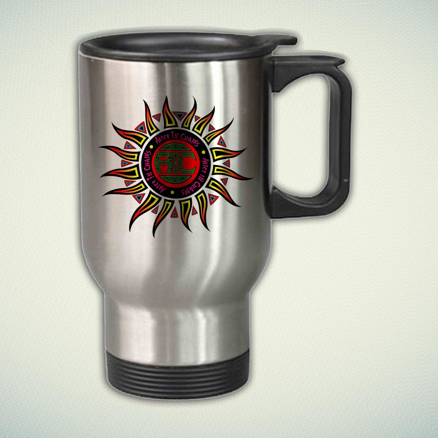 Alice in Chains Logo 14oz Stainless Steel Travel Mug