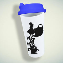 Alice In Wonderland, We'Re All Mad Here Double Wall Plastic Mug
