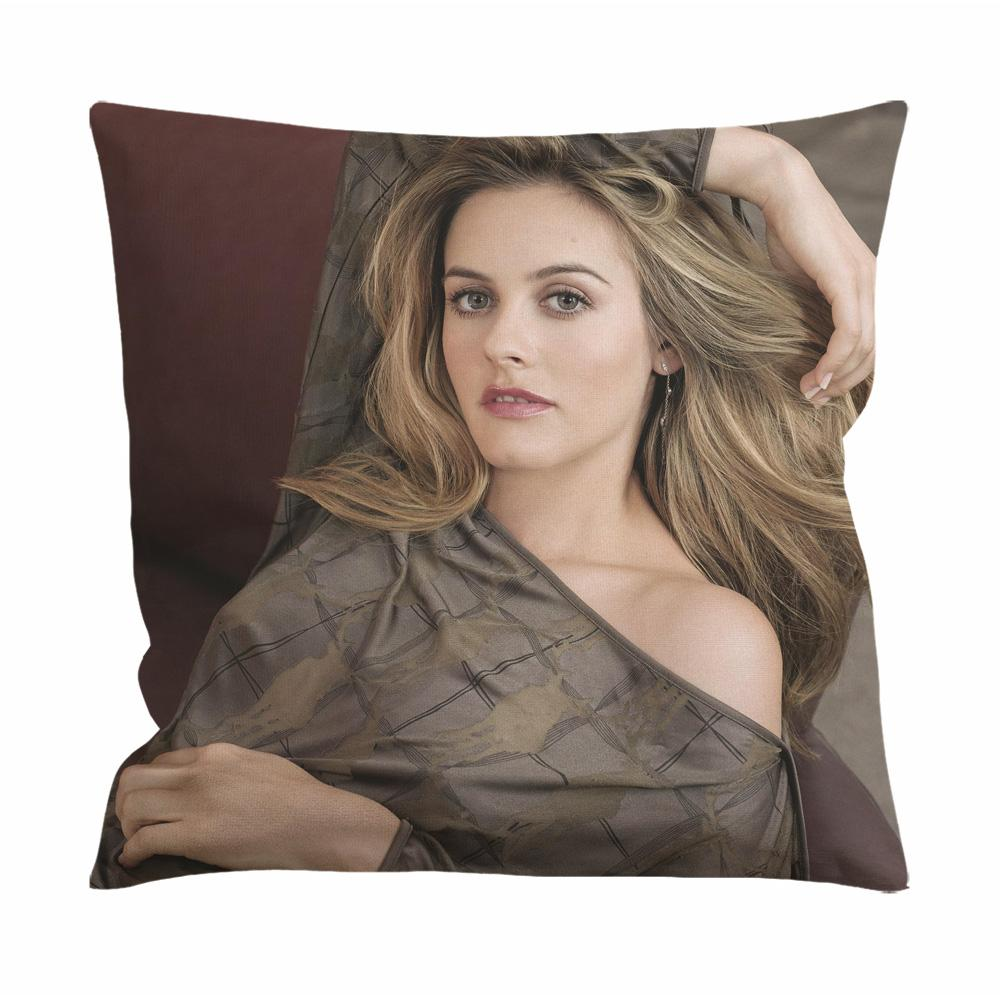 Alicia Silverstone Sexy Face Cushion Case / Pillow Case