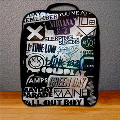 All Band Logo collage Backpack for Student