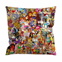 All Disney Characters Cushion Case / Pillow Case