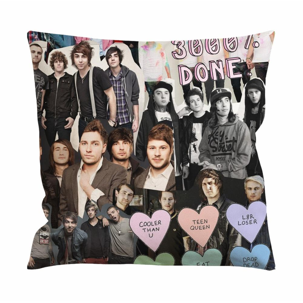 All Time Low Collage Cushion Case / Pillow Case