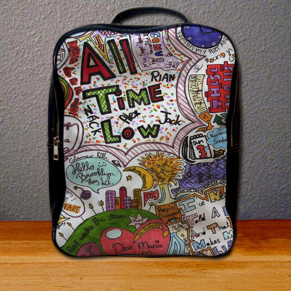 All Time Low Quote Drawing Backpack for Student