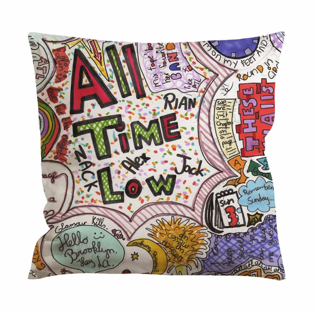 All Time Low Quote Drawing Cushion Case / Pillow Case